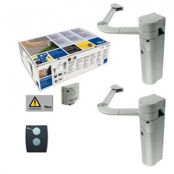 Комплект автоматики Nice walkykit 2024 для распашных ворот или калитки (до 180 кг.), рычажный