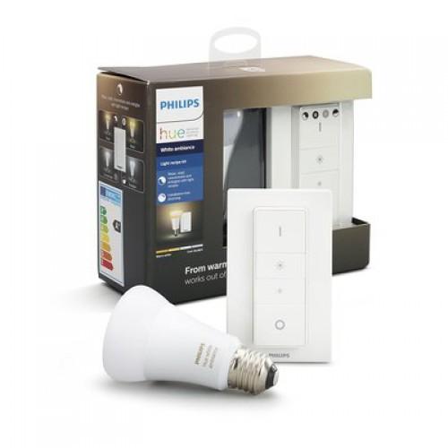 Комплект умных ламп Philips Hue Ambiance E27 с пультом ДУ