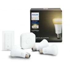 Комплект умных ламп Philips Hue Ambiance E27 с пультом ДУ и блоком управления