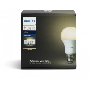 Умная лампа Philips Hue White E27 Starter Kit