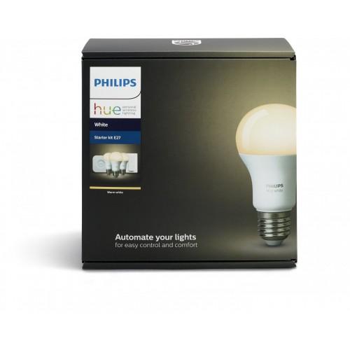 Умная лампа Philips Hue White E27 Starter Kit