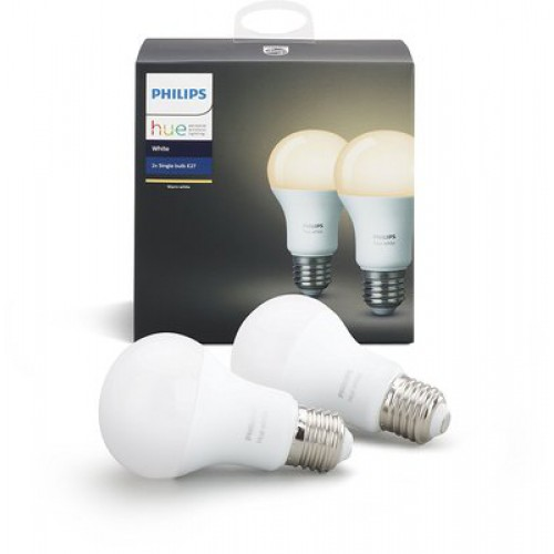 Умная лампа Philips Hue White E27 Starter Kit (2шт)