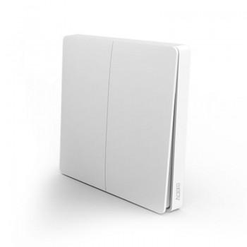 Умный беспроводной выключатель Aqara Smart Light Switch дублирующий (двухклавишный)