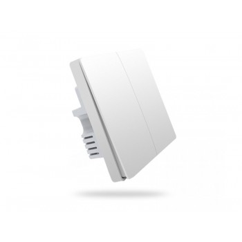 Умный выключатель Aqara Smart Light Switch 2 (двухклавишный) БЕЗ нулевого провода