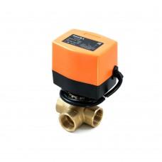 Трехходовой шаровый кран с электроприводом (сервоприводом) SMART QT3308 (AC220V, DC24V,DC12V)