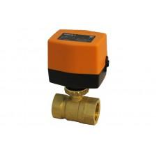 Двухходовой шаровый кран с электроприводом (сервоприводом) SMART QT3308 (AC220V, DC24V,DC12V)