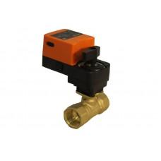 Двухходовой шаровый кран с электроприводом (сервоприводом) и ручным управлением SMART QT5304/5306 (AC220V,AC24V,DC24V)